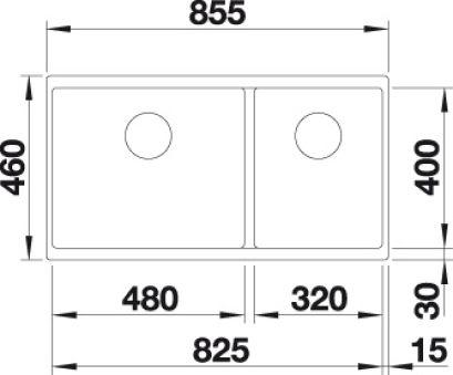 EVIER BLANCO SUBLINE 480/320-U PDUR ANTHRACITE MANU INF