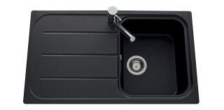 LUISINA - Luisigranit - Fugue - Evier à encastrer Luisina 1 bac, 1 égouttoir coloris Full Black