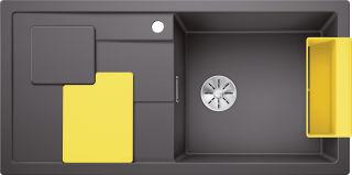 EVIER BLANCO SITY XL 6S PDUR GRIS ROCHER / LEMON INF MA&SIP
