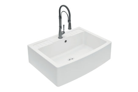 LUISINA - Luisiceram - Esprit Chambord - Evier à poser Esprit Chambord 1 grand bac coloris Blanc