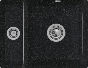 Villeroy & Boch - Subway XU - Cuve sous-plan Villeroy & Boch 1 bac, 1 vide-sauce coloris Chromit