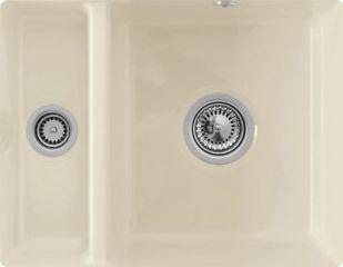 Villeroy & Boch - Subway XU - Cuve sous-plan Villeroy & Boch 1 bac, 1 vide-sauce coloris Ivory