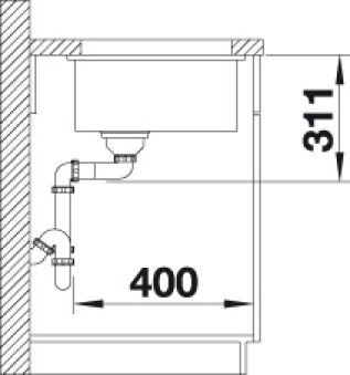 EVIER BLANCO SUBLINE 500-U CERAMIQUE BLANC CRISTAL