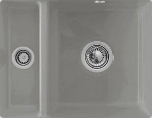 Villeroy & Boch - Subway XU - Cuve sous-plan Villeroy & Boch 1 bac, 1 vide-sauce coloris Fossil