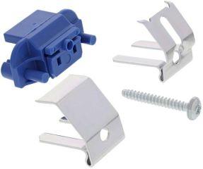 Plattes de fixation set UG. NG. en vrac en sac 8 piècessous-montage - socle plastique bleu avec clip - lot de 8 - encastrement affleurant - pour éviers en SILGRANIT®