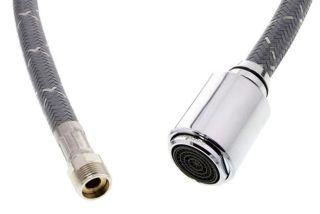 Douchette FILO-S chromé compléte avec flexible NF, SILGRANIT®-Look, chromé, Haute pression