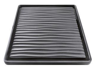 Egouttoir en qualité plastique noir-gris pour cuves à intégrer, plastique, noir