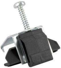Pattes de fixation 12 pièces préhenseur dessoussous-montage - socle plastique noir et vis - lot de 12 - encoche de reception sur l'évier - pour plans de travail de 28 - 34 mm - encastrement affleurant - pour éviers en SILGRANIT®