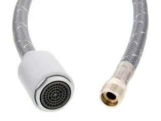 Douchette FILO-S chromé mat compléte avec flexible NF, SILGRANIT®-Look, chromé mat, Haute pression