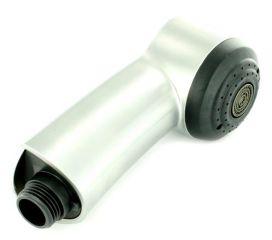 Douchette MERKUR-S HP finish acier inoxydable compléte, surface métallique, finish Inox, Haute pression