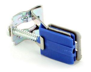 Patte de fixation 2 faire une halte 28-40 automatique ZUS7361Dsous-montage - socle plastique bleu avec clip - 1. réglable pour plans de travail de 34-40 mm, 2. réglable pour plans de travail de 28-34 mm (patte de fixation 1. pré-assemblé) - pour éviers en acier inoxydable