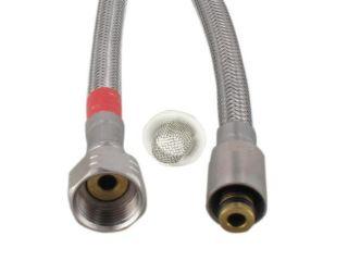 Flexible d'alimentation rouge avec joint/tamis 45 cm KP