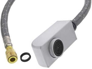 Douchette compléte + flexible ZENOS-S HP chromé mat, surface métallique, chromé mat, Haute pression