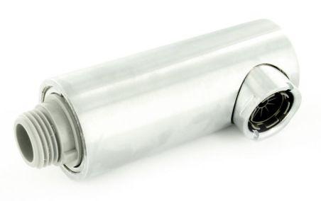 Douchette ATOS-S BP finish acier inoxydable compléte HA, surface métallique, finish Inox, Bas pression