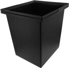 Poubelle SELECT 17 litres, plastique, noir