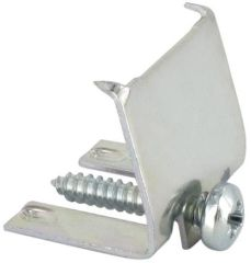 Pattes de fixation set 5 pièces chez article 218165sous-montage - clip acier inoxydable et vis - lot de 5 - socle plastique blanc (art. 137257) nécessaire pour fixation - encastrement afffleurant - pour éviers en acier inoxydable