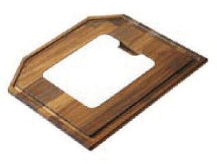 LUISINA - Planche à découper en iroko avec petite planche intégrée en matériaux de synthèse