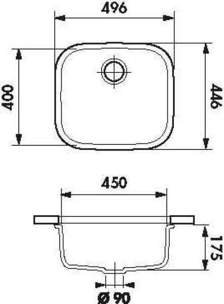 luisina luisinox cuves simples cuve sous plan luisina 1 bac coloris inox satin vidage. Black Bedroom Furniture Sets. Home Design Ideas