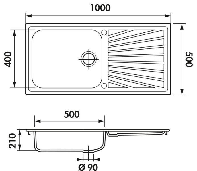 evier luisina verdi inox mini structure ev54011 ims. Black Bedroom Furniture Sets. Home Design Ideas