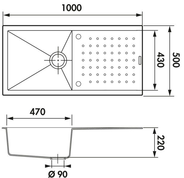 vier luisigranit fusion alpina luisina ev60011 116. Black Bedroom Furniture Sets. Home Design Ideas