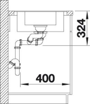 BLANCO METRA 6S-F PDUR ANTHRACITE AUTO