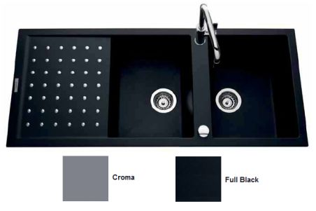 Évier Luisigranit Fusionstyl, Full Black - Luisina EV8621 219