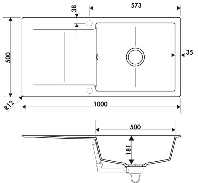 vier luisigranit epure beton luisina ev28011 231. Black Bedroom Furniture Sets. Home Design Ideas