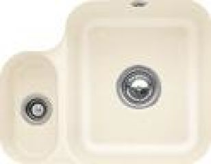 Villeroy & Boch - Cisterna - Cuve sous-plan Villeroy & Boch 1 bac, 1 vide-sauce coloris Ivory