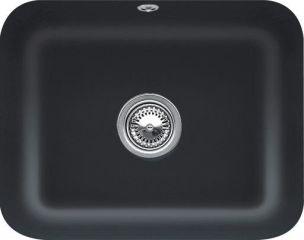 Villeroy & Boch - Cisterna - Cuve sous-plan rectangulaire Villeroy & Boch 1 bac coloris Ebony