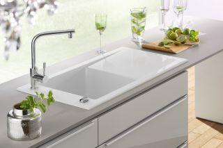 Villeroy & Boch - Timeline - Evier à encastrer Villeroy & Boch 1 grand bac coloris Blanc